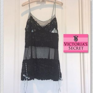 New Victoria Secret Sheer, Lace, and Satin Chemise